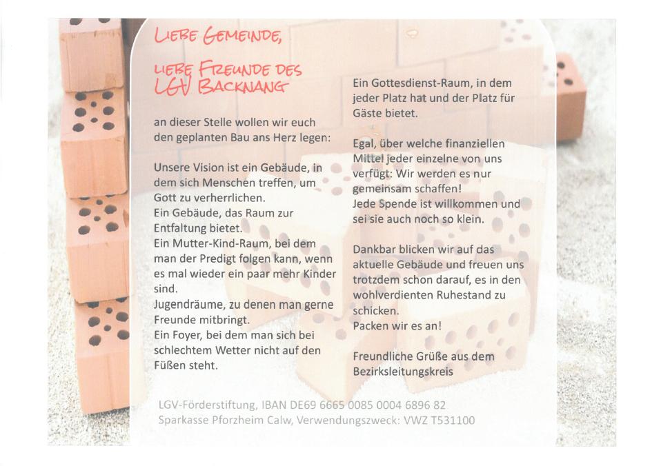 Bau Gemeindehaus
